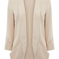 Warehouse Double drape pocket jacket Cream