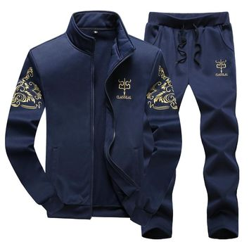New Fashion Sporting Suit Men Long Sleeve Hoodies and Pants Male Tracksuit Set Male Sweatshirt Two  Piece Set sportsman wear