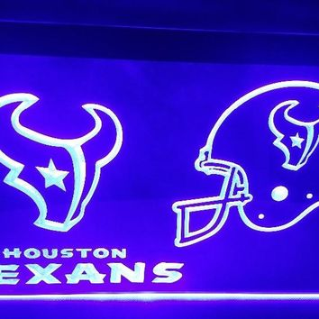 Houston Texans Football Club Bar LED Neon Light Sign home decor crafts