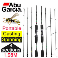 "ABU GARCIA HORNET STINGER CASTING FISHING 6'6"" 4 SECTIONS"