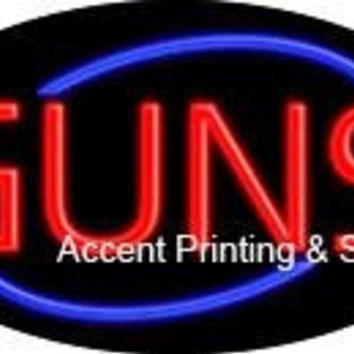 Guns Flashing Handcrafted Real GlassTube Neon Sign