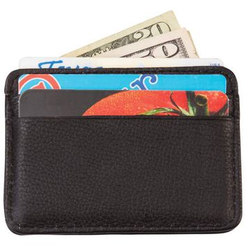 Men's Solid Genuine Leather Front Pocket Wallet