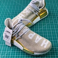 Pharrell Williams X Adidas Originals Hu Nmd Pw Trail China Exclusive Happy Gold F99762 Sport Running Shoes - Best Online Sale
