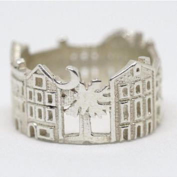 Charleston Cityscape Statement Ring