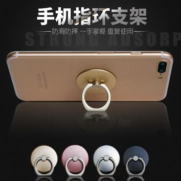 360 Degree Finger Ring Mobile Phone Smartphone Stand Holder For iPhone 7plus Samsung HUAWEI Smart Phone IPAD MP3 Car Mount Stand