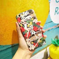 Cool car and beauty for iPhone 5 5s SE 6 6s 6plus 6splus 7 7plus 1018J01