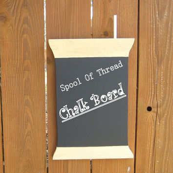 Chalk Board Sewing Room Decor Spool