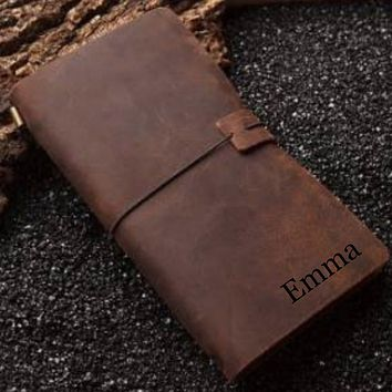 Personalized Leather Engraved Journal