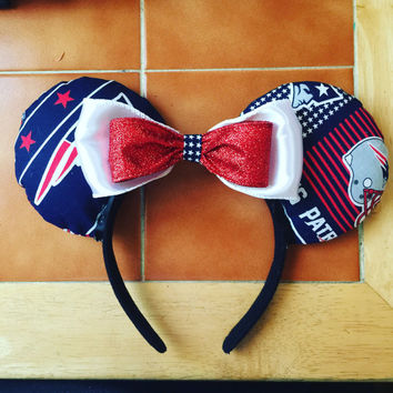 Patriots Minnie Mouse ears