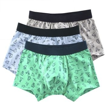 3 Pcs/Lot Cotton Children's Boy Underwear Cartoon Shorts Kid Boys Panties Briefs Boxer Underpants Kids Pant Baby Clothing