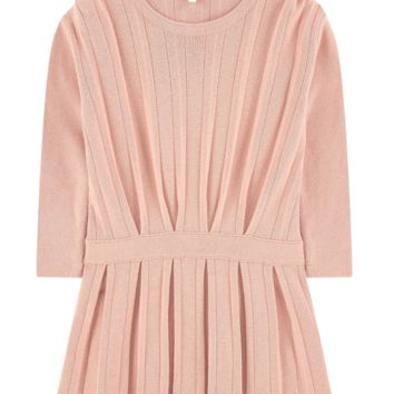 Chloe Girls Salmon-Pink Pleated Dress (Mini-Me)