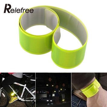 New Road Bike Bicycle Reflective Safe Leg Strap Beam Bottom Useful Random Color High Quality