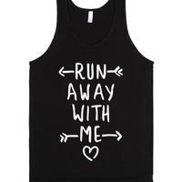 Run Away With Me (Dark Tank)-Unisex Black Tank
