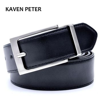 Mens Belt Formal Leather Reversible Buckle Belts Mens Leather Handmade Belt 2017 Hot Fashion Cowhide Leather Men Belt