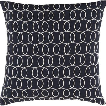 Solid Bold II Throw Pillow Black, Gray