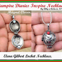 VAMPIRE DIARIES  inspired Elena Gilbert LOCKET Necklace.