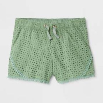 Girls' Textured Fashion Shorts - Cat & Jack™ Pioneer Sage