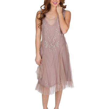Nataya AL-254 Tara 1920s Flapper Style Party Dress in Amethyst