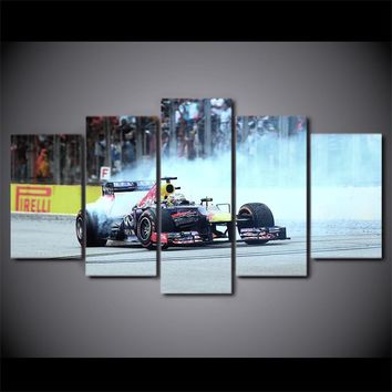 Indy race car F1 burnout wall art on canvas racing