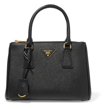 Prada Galleria - Mini Black Textured Leather Tote 5% off retail
