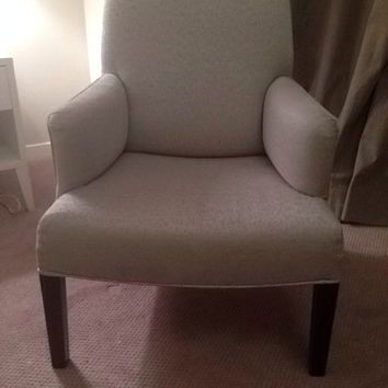 Italian club chair by Promemoria light grey