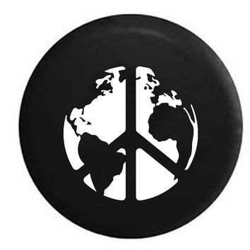 World Peace Sign Global Harmony & Love RV Camper Jeep Spare Tire Cover