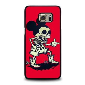 mickey mouse zombie disney samsung galaxy s6 edge plus case cover  number 1