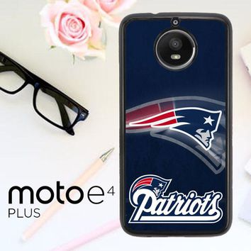 New England Patriots Z2996 Motorola Moto E4 Plus Case