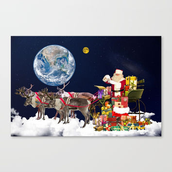 Santa Claus Canvas Print by Karl-Heinz Lüpke