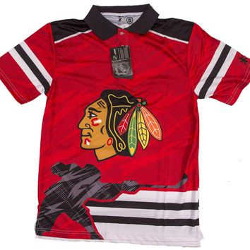 Chicago Blackhawks NHL Thematic Polyester Polo Shirt