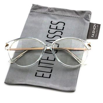 ab7ebf359b Elite VINTAGE RETRO 60 s CAT EYE Style Clear Lens EYE GLASSES Tr
