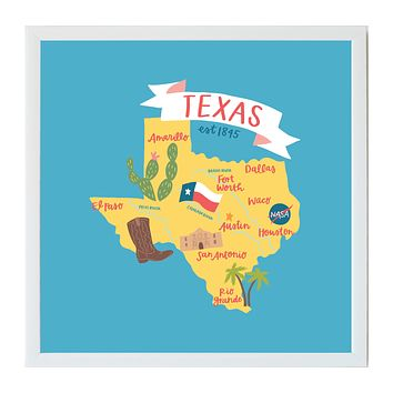Alexa Destinations Texas State Map