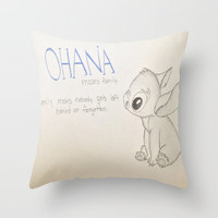 Lilo and Stitch Throw Pillow by Elyse Notarianni | Society6