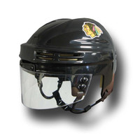 Official NHL Licensed Mini Player Helmets - Chicago Blackhawks