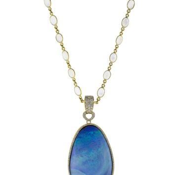 Azur Necklace With Boulder Opal Pendant | Marissa Collections