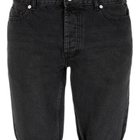 Black Skinny Denim Shorts - Denim Shorts  -Men's Shorts- Clothing
