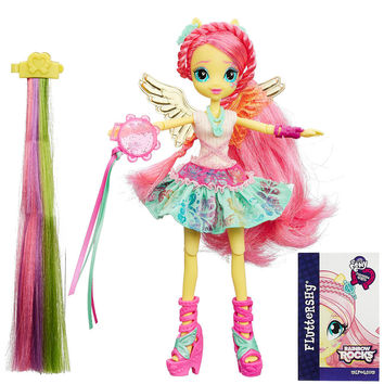 My Little Pony Equestria Girls Rainbow Rocks Fluttershy Rockin' Hairstyle Doll