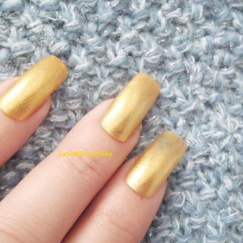 gold fake nails golden false nail art wedding press on nails glue drag queen cosplayer lolita christmas artificial square lasoffittadiste