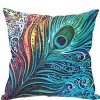 Peacock Pillow Cushion