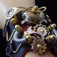 STEAMPUNK Victorian Industrial Cuff Watch Bracelet