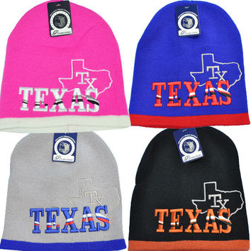 + TEXAS 8INCH SHORT BEANIE In Pink