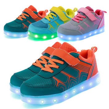 USB charging led children shoes