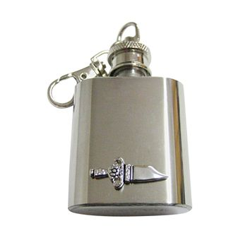 Dagger Sword 1 Oz. Stainless Steel Key Chain Flask