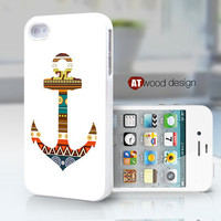 unique iphone case iphone 4 case iphone 4s case iphone 4 cover anchor graphic atwoodting design