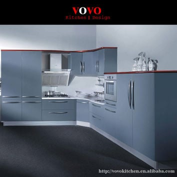 Dark color lacquer kitchen cabinet