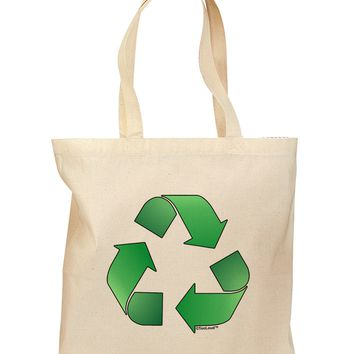Recycle Green Grocery Tote Bag by TooLoud