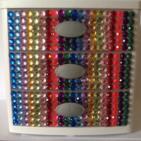 Colorful Rhinestone Three Drawer Organizer