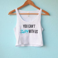 You can't swim with us - Crop-Top
