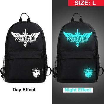 Anime Backpack School MeanCat  Grimace Face America Star League Legends One Piece Naruto School Backpack Night Light Noctilucence AT_60_4