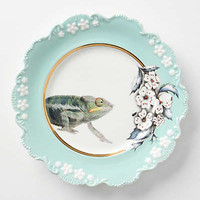 Anthropologie - Natural World Dessert Plate, Chameleon